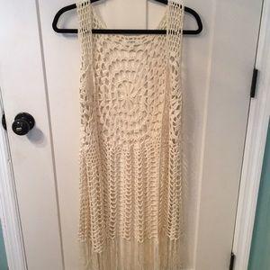 Crochet Vest w/ Fringe
